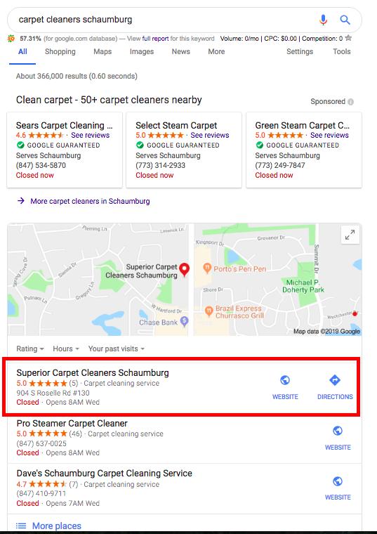 Carpet cleaners schaumburg map